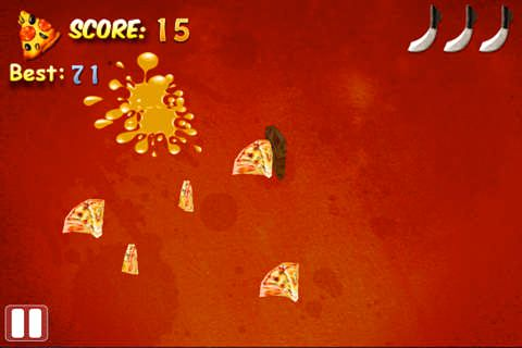 Capturas de pantalla del juego Pizza fighter para iPhone, iPad o iPod.