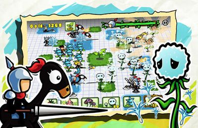 Capturas de pantalla del juego Plants vs. Stick para iPhone, iPad o iPod.