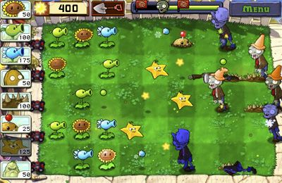 Screenshots of the Plants vs. Zombies game for iPhone, iPad or iPod.
