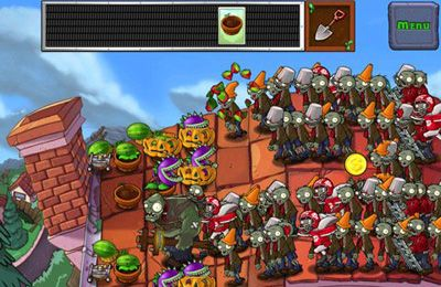 Screenshots do jogo Plants vs. Zombies para iPhone, iPad ou iPod.