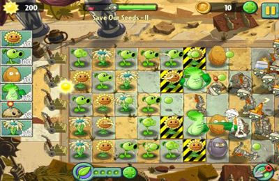 Screenshots do jogo Plants vs. Zombies 2 para iPhone, iPad ou iPod.