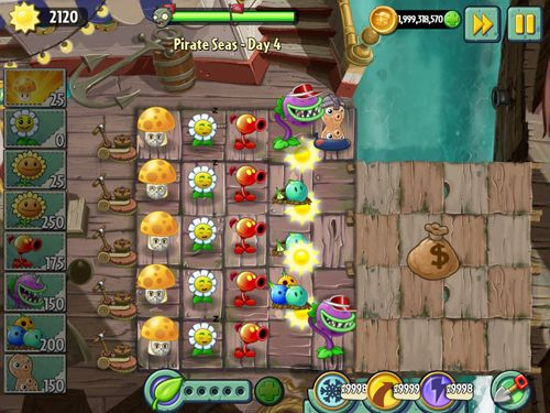Kostenloser Download von Plants vs. zombies 2: Big wave beach für iPhone, iPad und iPod.