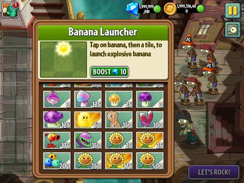 Гра Plants vs. zombies 2: Big wave beach для iPhone