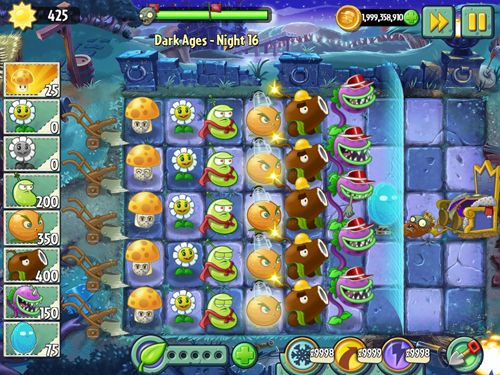 Геймплей Plants vs. zombies 2: Big wave beach для Айпад.