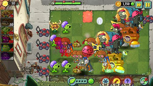 Геймплей Plants vs. zombies 2: Modern day для Айпад.
