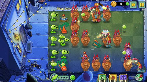 Скріншот гри Plants vs. zombies 2. Summer nights: Strawburst на Айфон.