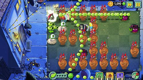 Геймплей Plants vs. zombies 2. Summer nights: Strawburst для Айпад.
