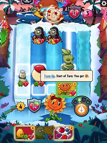 Écrans du jeu Plants vs. zombies: Heroes pour iPhone, iPad ou iPod.
