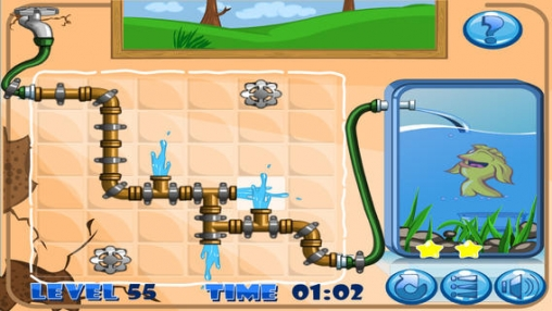 Screenshots of the Plumber puzzle game for iPhone, iPad or iPod.