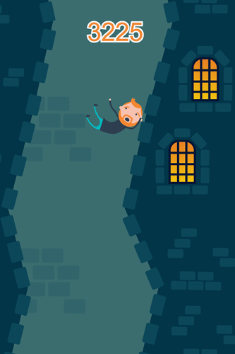 Screenshots of the Plummet free fall game for iPhone, iPad or iPod.