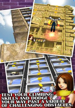 Screenshots of the Pocket Climber game for iPhone, iPad or iPod.