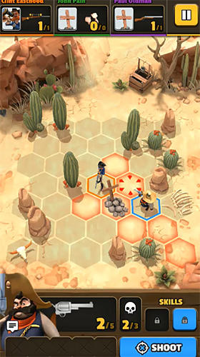 Screenshots of the Pocket cowboys game for iPhone, iPad or iPod.