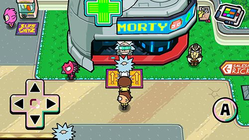 Screenshots of the Pocket Mortys game for iPhone, iPad or iPod.
