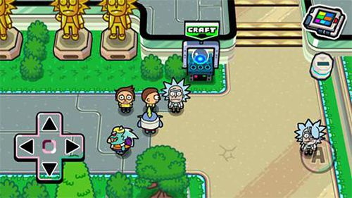 Геймплей Pocket Mortys для Айпад.