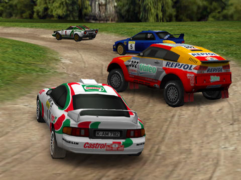 Screenshots vom Spiel Pocket Rally für iPhone, iPad oder iPod.