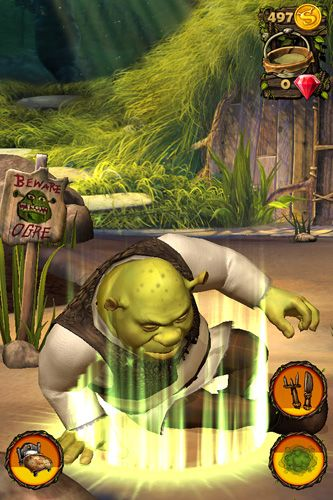 Capturas de pantalla del juego Pocket Shrek para iPhone, iPad o iPod.