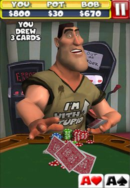 Screenshots vom Spiel Poker With Bob für iPhone, iPad oder iPod.