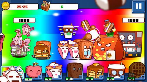 Screenshots vom Spiel Pop karts food fighters für iPhone, iPad oder iPod.