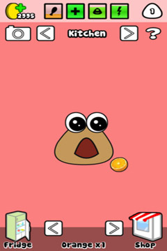 Screenshots do jogo Pou para iPhone, iPad ou iPod.