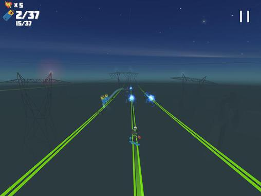 Écrans du jeu Power hover pour iPhone, iPad ou iPod.