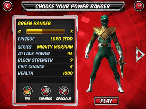 Free Power rangers legends download for iPhone, iPad and iPod.