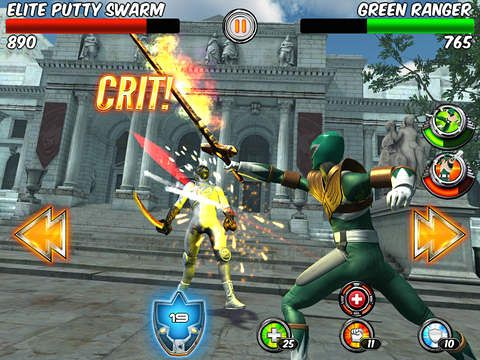 Игра Power rangers legends для iPhone