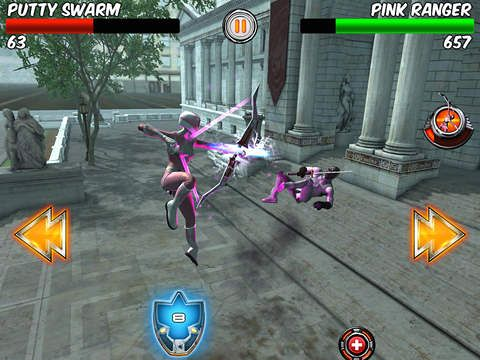 Screenshots of the Power rangers legends game for iPhone, iPad or iPod.