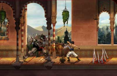 Capturas de pantalla del juego Prince of Persia Classic HD para iPhone, iPad o iPod.