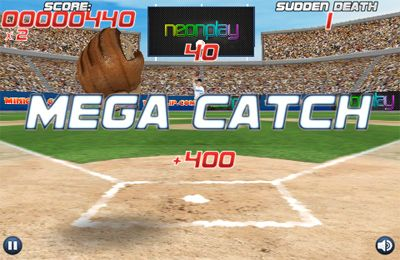 Capturas de pantalla del juego Pro Baseball Catcher para iPhone, iPad o iPod.