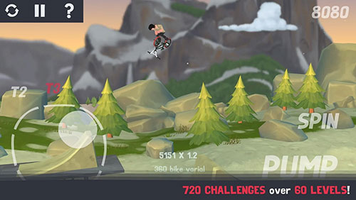 Capturas de pantalla del juego Pumped BMX 3 para iPhone, iPad o iPod.