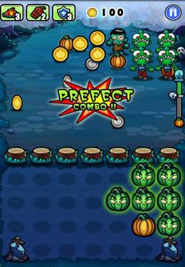 Screenshots of the Pumpkins vs. Monsters game for iPhone, iPad or iPod.
