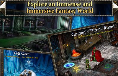 Capturas de pantalla del juego Puzzle Quest 2 para iPhone, iPad o iPod.