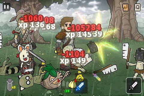 Screenshots of the Quest runners game for iPhone, iPad or iPod.