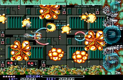 Screenshots of the R-Type game for iPhone, iPad or iPod.