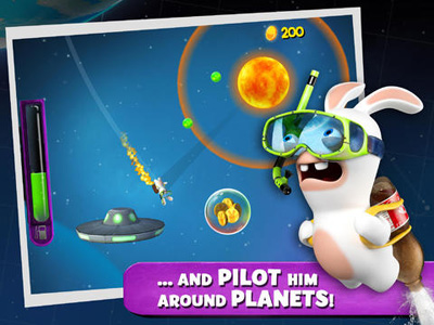 Descarga gratuita de Rabbids Big Bang para iPhone, iPad y iPod.