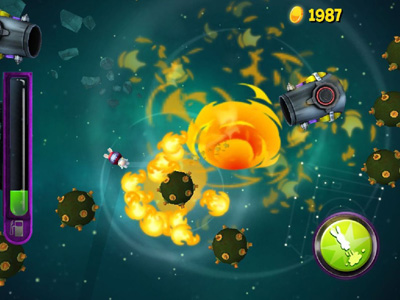 Capturas de pantalla del juego Rabbids Big Bang para iPhone, iPad o iPod.