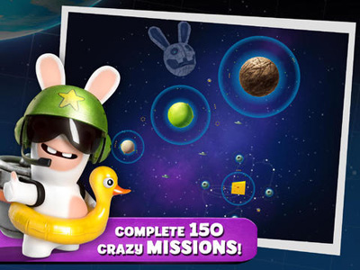 Écrans du jeu Rabbids Big Bang pour iPhone, iPad ou iPod.