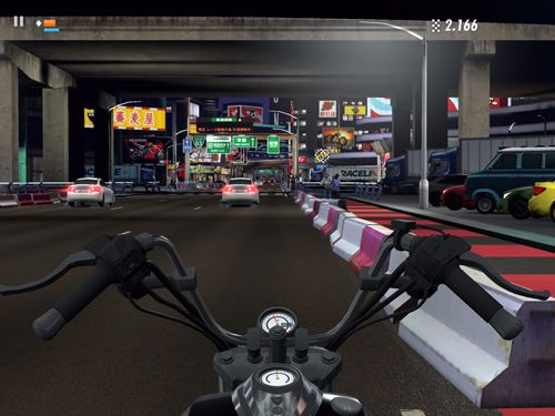 Kostenloser Download von Raceline CC: High-speed motorcycle street racing für iPhone, iPad und iPod.