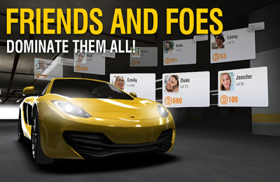 Download Racing Rivals iPhone free game.