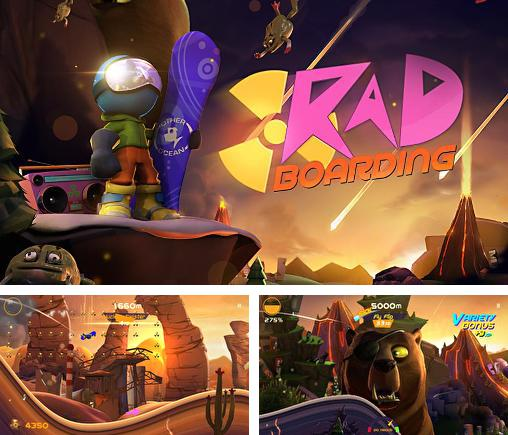 In addition to the game Nyan Cat Adventure for iPhone, iPad or iPod, you can also download RAD: Boarding for free.