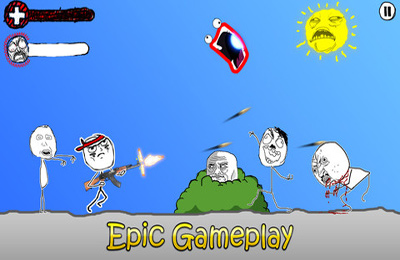 Screenshots do jogo Rage Wars – Meme Shooter para iPhone, iPad ou iPod.