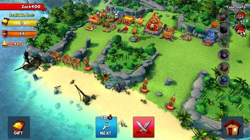 Screenshots vom Spiel Raids of glory für iPhone, iPad oder iPod.