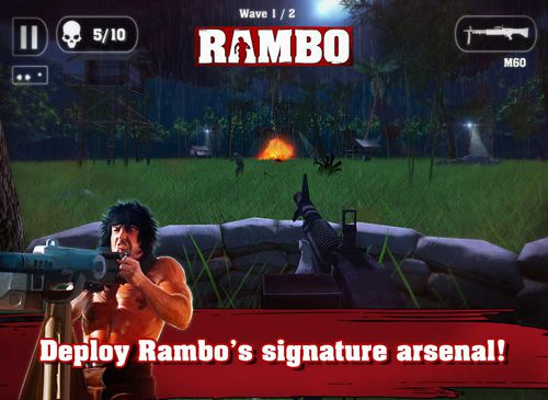 Capturas de pantalla del juego Rambo para iPhone, iPad o iPod.