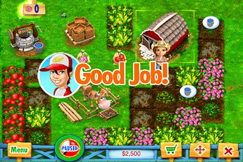 Écrans du jeu Ranch rush pour iPhone, iPad ou iPod.
