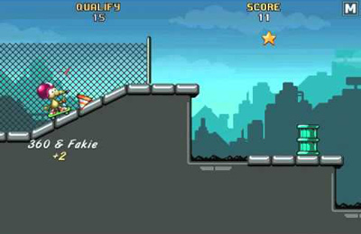 Screenshots vom Spiel Rat On A Skateboard für iPhone, iPad oder iPod.