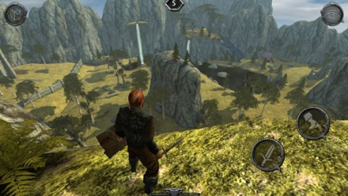 iPhone、iPad 或 iPod 版Ravensword: Shadowlands游戏截图。