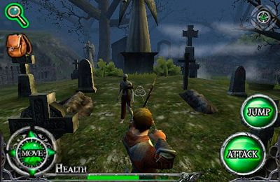 iPhone、iPad または iPod 用Ravensword: The Fallen Kingゲームのスクリーンショット。