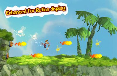 Écrans du jeu Rayman Jungle Run pour iPhone, iPad ou iPod.