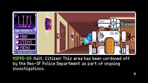 iPhone、iPad 或 iPod 版Read only memories: Type-M游戏截图。