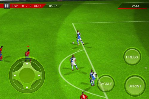 Capturas de pantalla del juego Real football 2012 para iPhone, iPad o iPod.